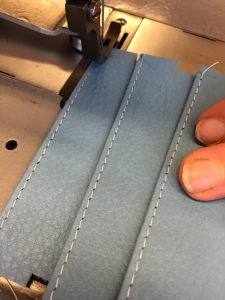 stitching the pockets