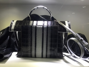 croco bag with stripe print