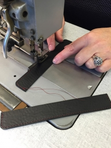 stitching the ring protectors