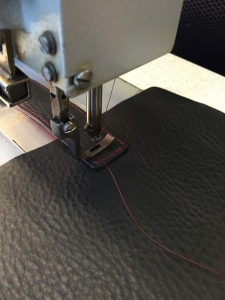 stitching clasp on the outside part