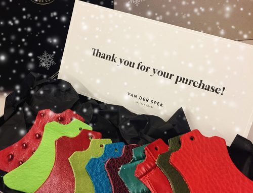 Christmas | Gift Card with leather samples